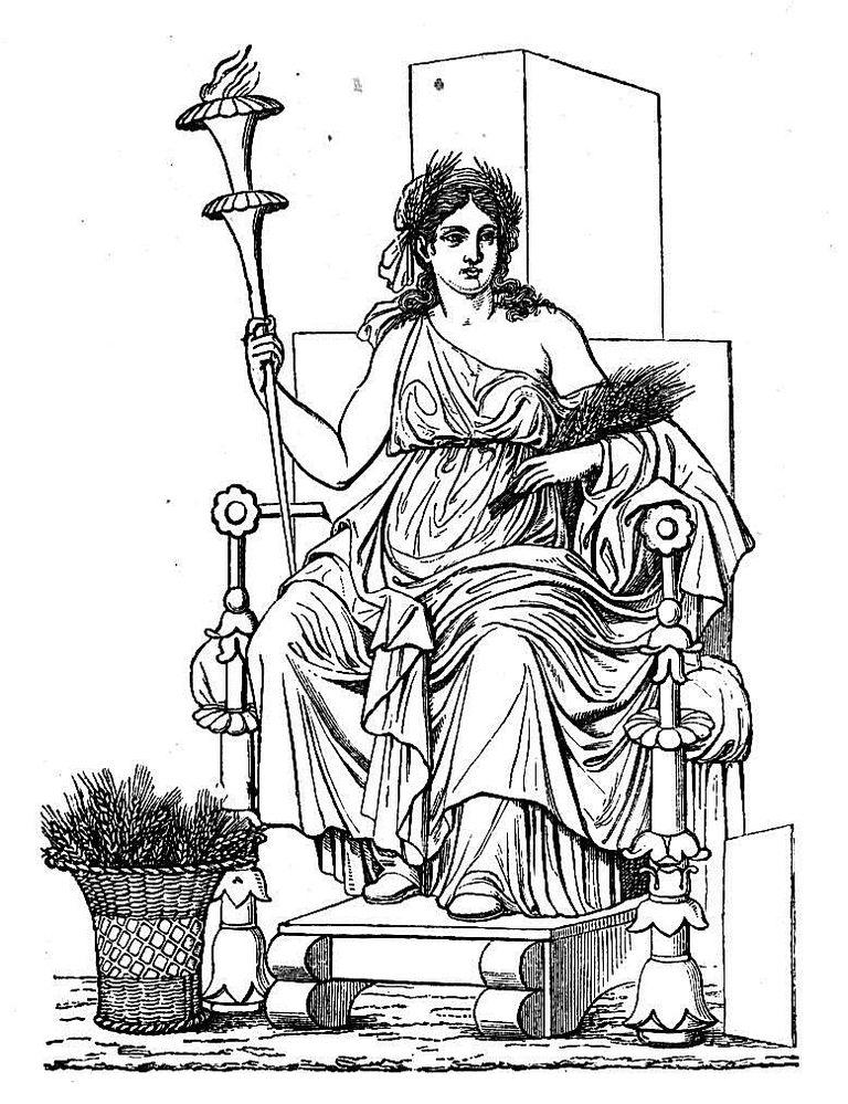 Gods clipart ceres Demeter Ceres Demeter The Greek