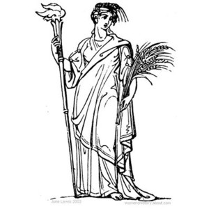 Goddess clipart demeter And Art  Greece and