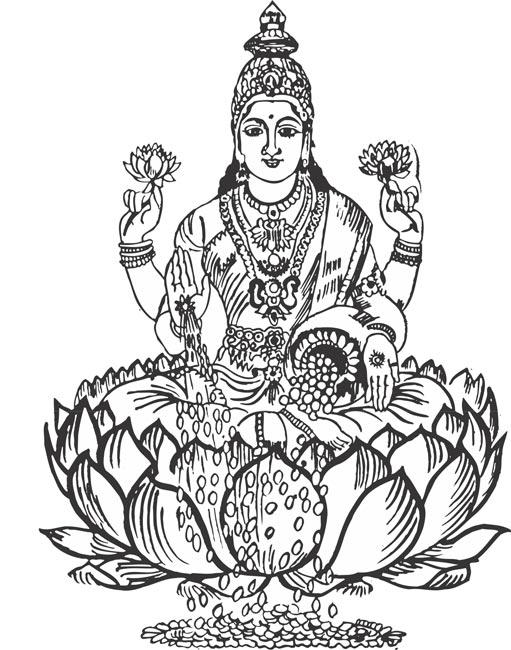 Gods clipart line art Devi collection Lakshmi Pie clipart