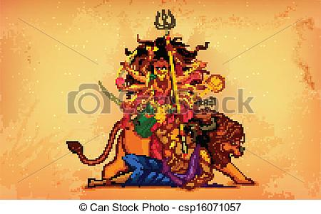 Goddess clipart dhaki (Happy with Art Durga background