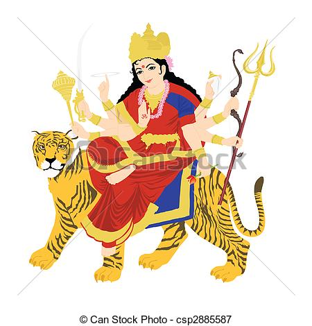 Goddess clipart durga mata Illustrations  of goddess white