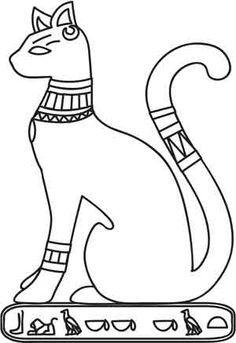 Hieroglyphs clipart egyptian cat #13