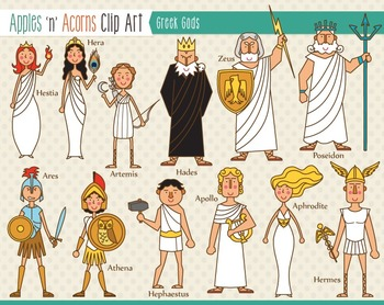 Ancient clipart greek god Outlines color Clip and outlines