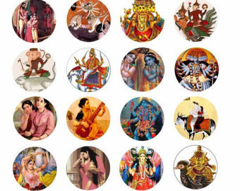 Goddess clipart hindu god Gods 5 Gods collage goddesses