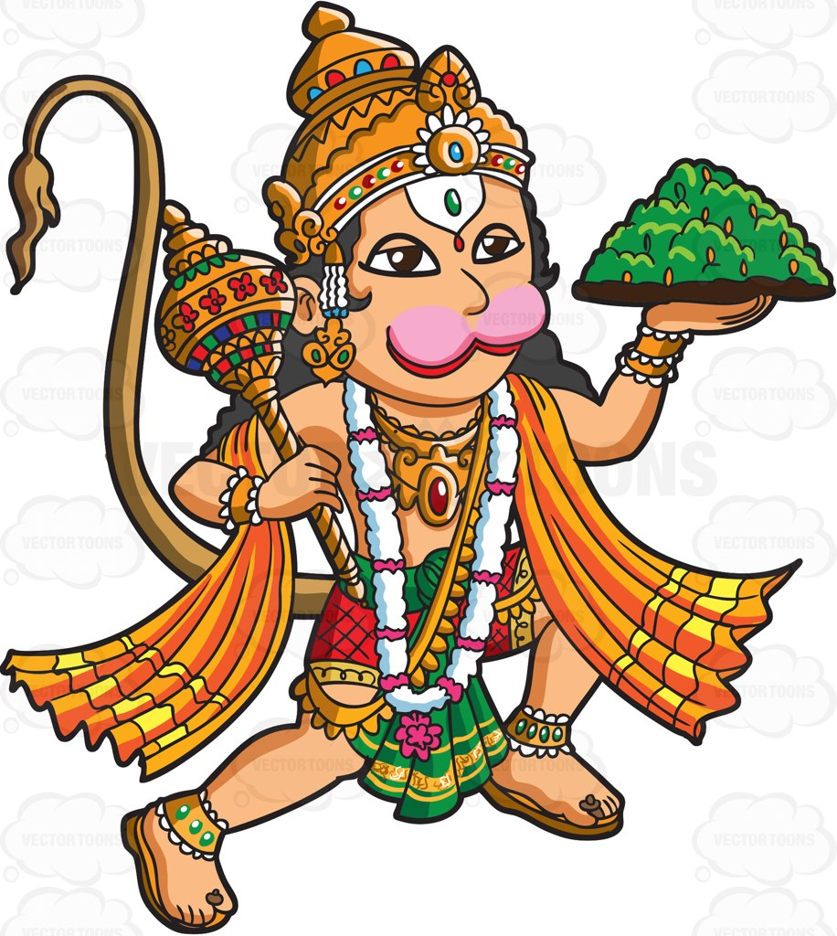 Goddess clipart hindu god Clipart Clipart Hanuman The Cartoon