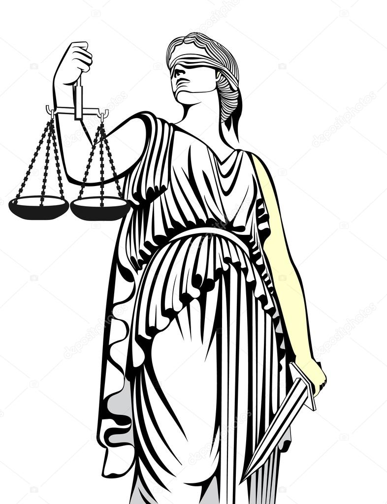 Goddess clipart lady justice Art Justice goddess of –
