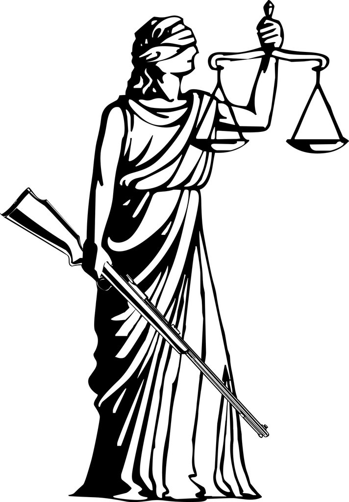 Goddess clipart lady justice Of rifle Justice Goddess) holding