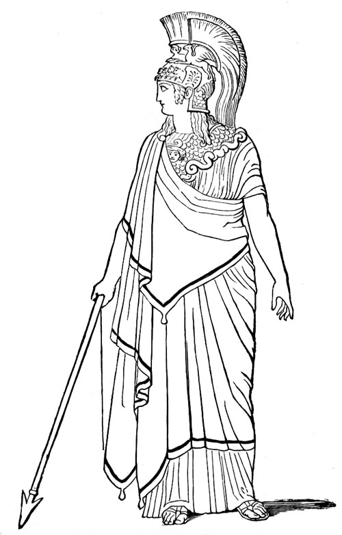 Goddess clipart minerva Roman and Gods Mythology