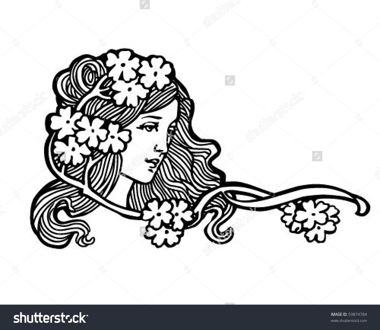 Woman clipart art nouveau Clip art clipart Clip nouveau