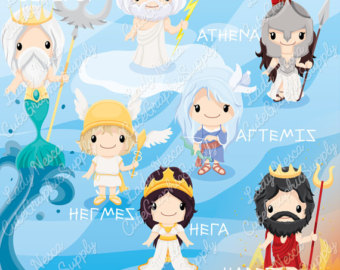 Gods clipart hera Greece mythology Zeus Greek Greek