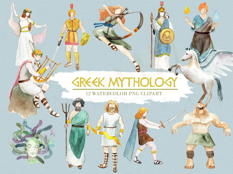 Medusa clipart greek mythology #5