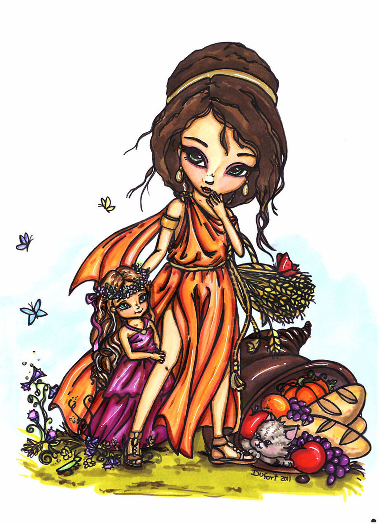 Gods clipart ceres And young Persephone young Demeter