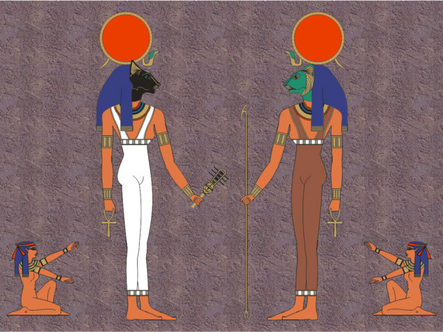 Goddess clipart diana roman Depiction and and Lower (Sekhmet)