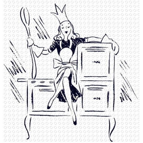 Kitchen clipart cookbook Vintage Mother Queen of