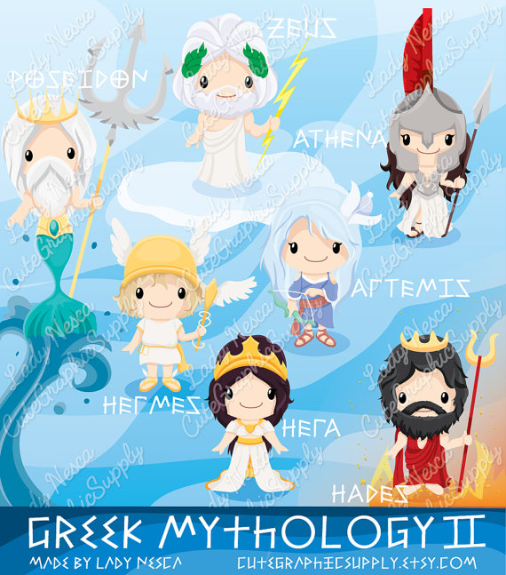 Mythology clipart goddess Greece clipart Il_570xn Greek Greek