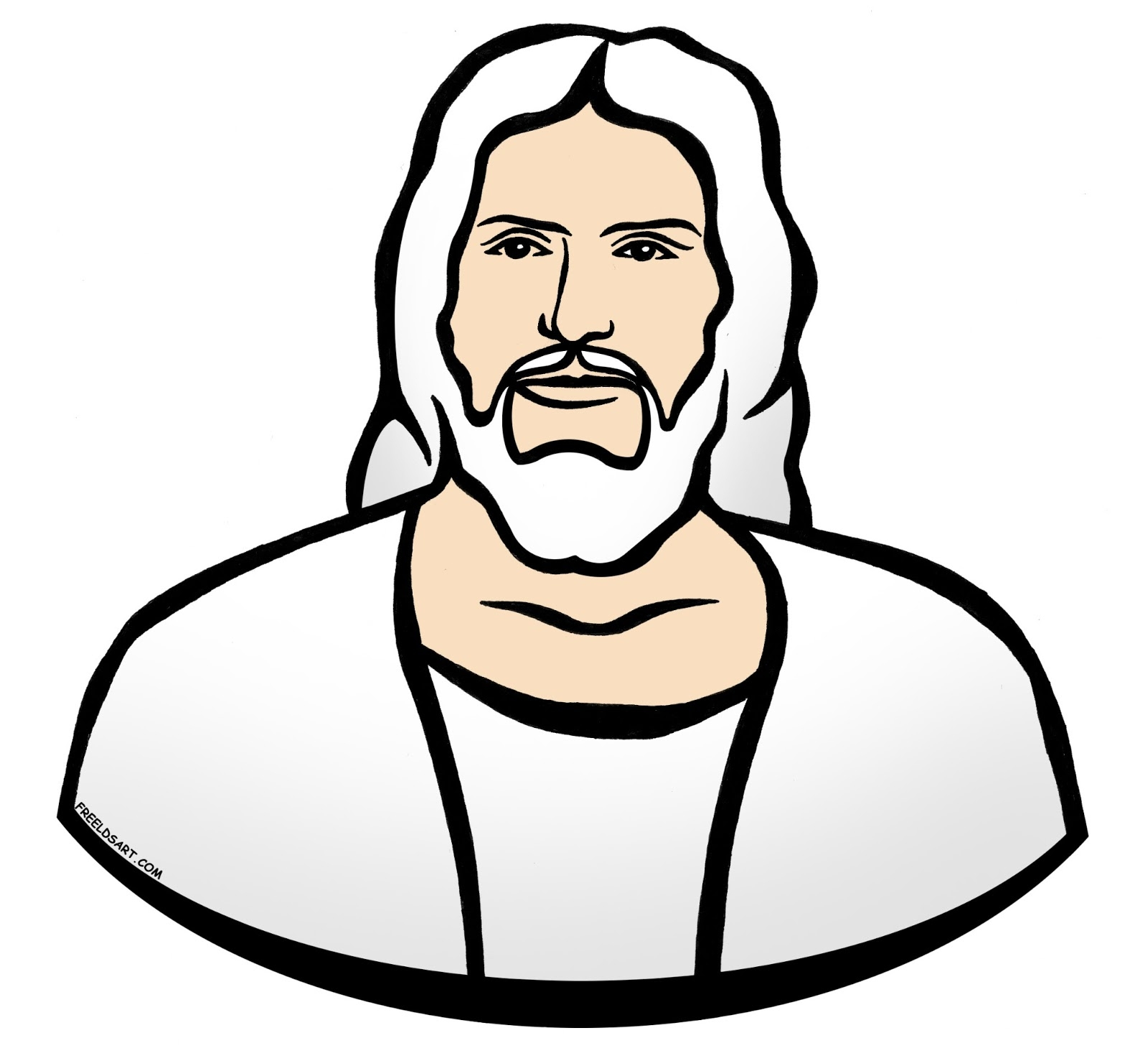 Gods clipart black and white Father father and white black