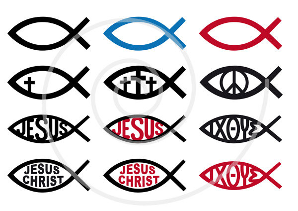 Gods clipart catholic Sign fish digital EPS Christ