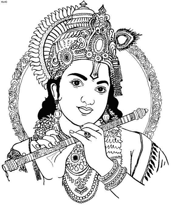 Drawn fluted  shree krishna Main Shree biggest the Krishna
