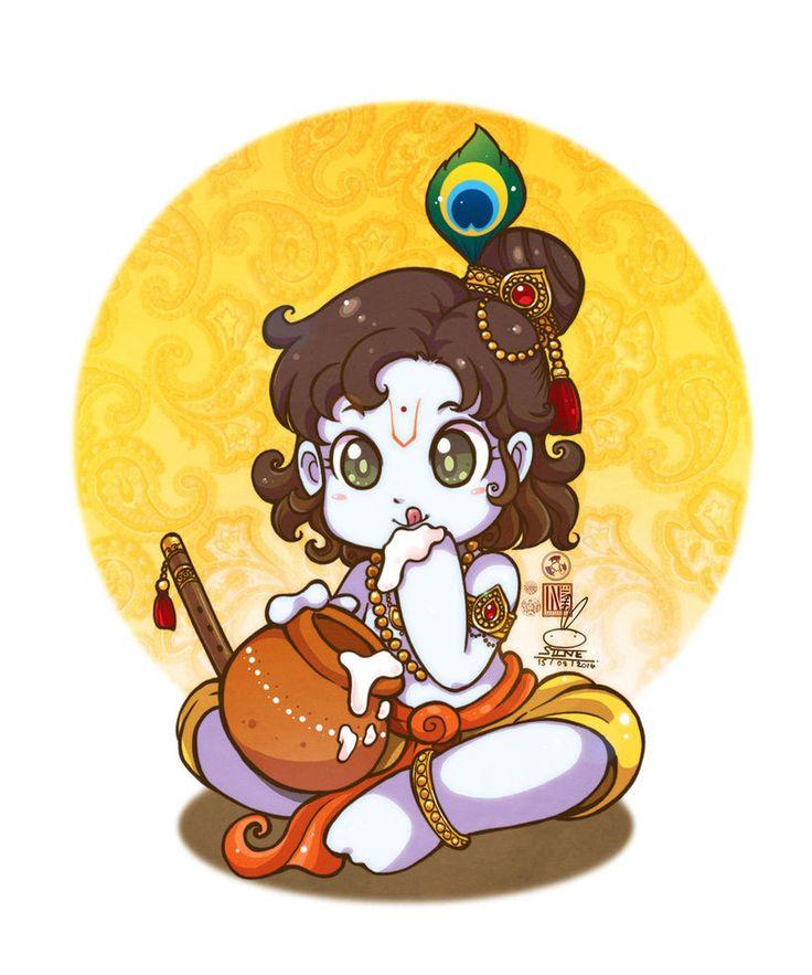 Gods clipart god krishna baby 802 In on paintings Pinterest