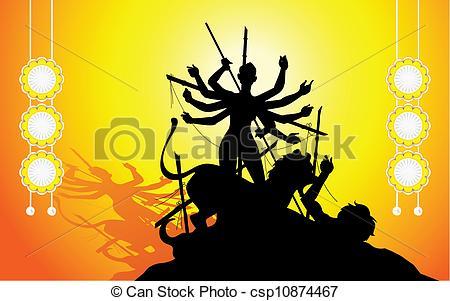 Gods clipart goddess durga Of csp10874467 illustration Durga Durga
