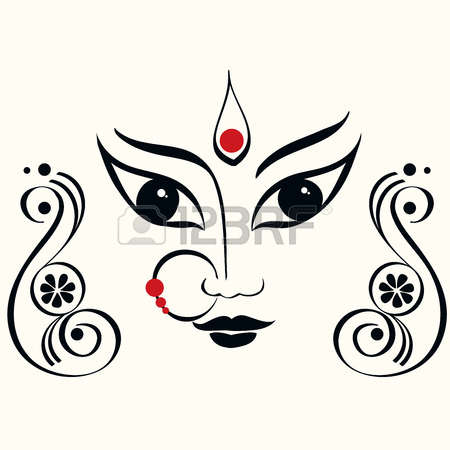 Goddess clipart devi Durga collection Illustrations Kalika devi