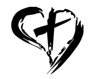 Drawn hearts crosses Religious Religious Clipart Clipart Heart