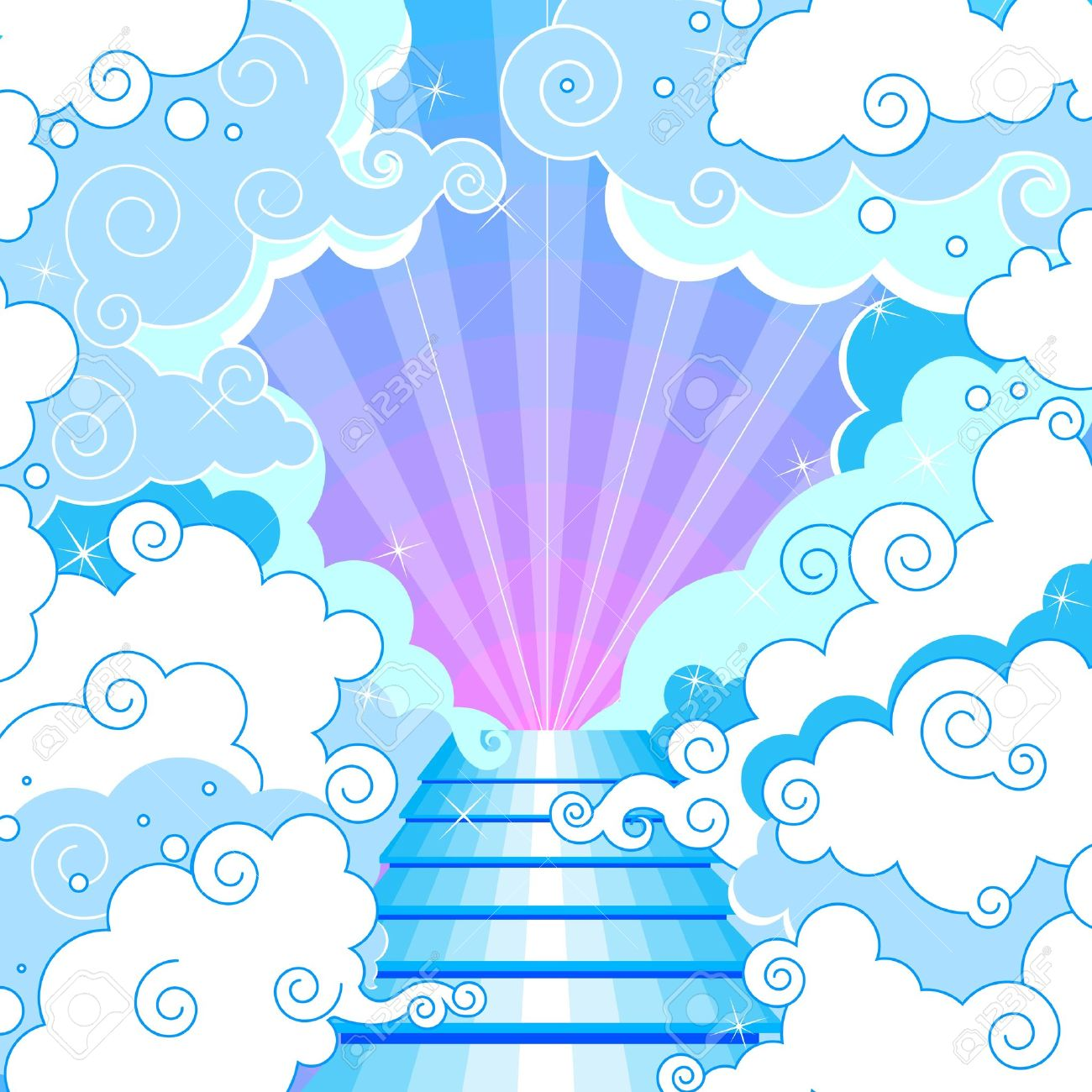 Gods clipart heaven clipart Of collection Stairway To The
