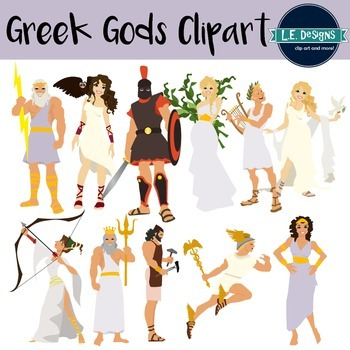 Gods clipart hera Gods Greek Student school Greek