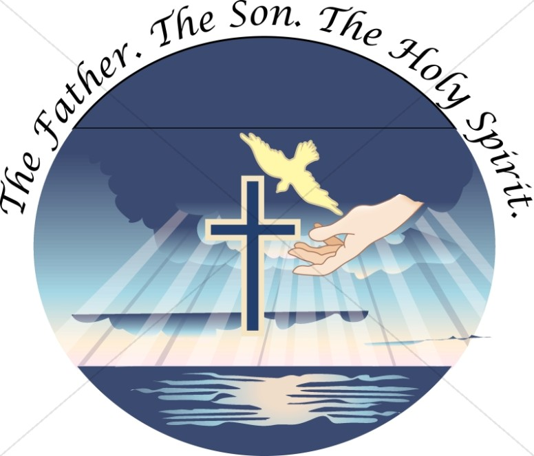 Gods clipart holy cross Trinity Sharefaith Blue Circle Graphics
