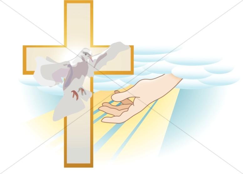 Gods clipart holy cross Dove God Trinity Graphics of