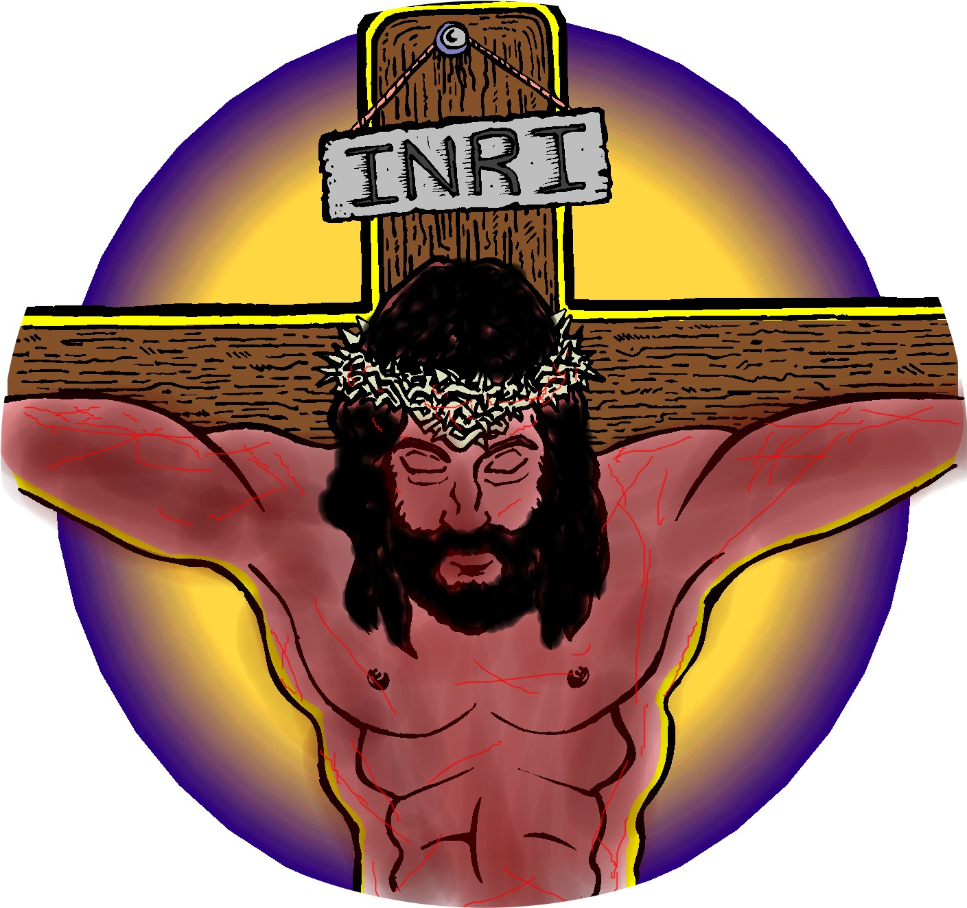 Deadth clipart station the cross Clip Jesus on  Died