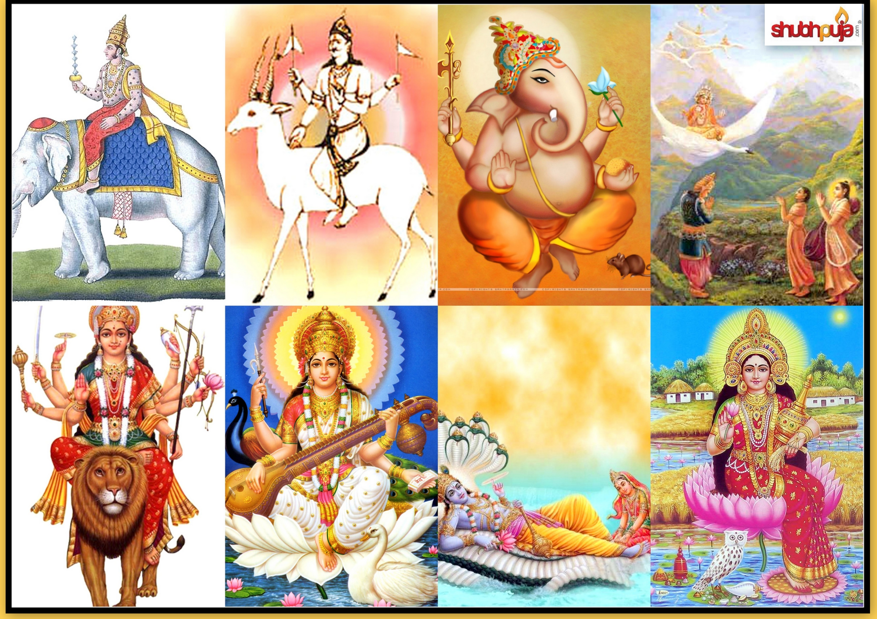 Gods clipart kartik And Shubhpuja Vishnu com Saraswati: