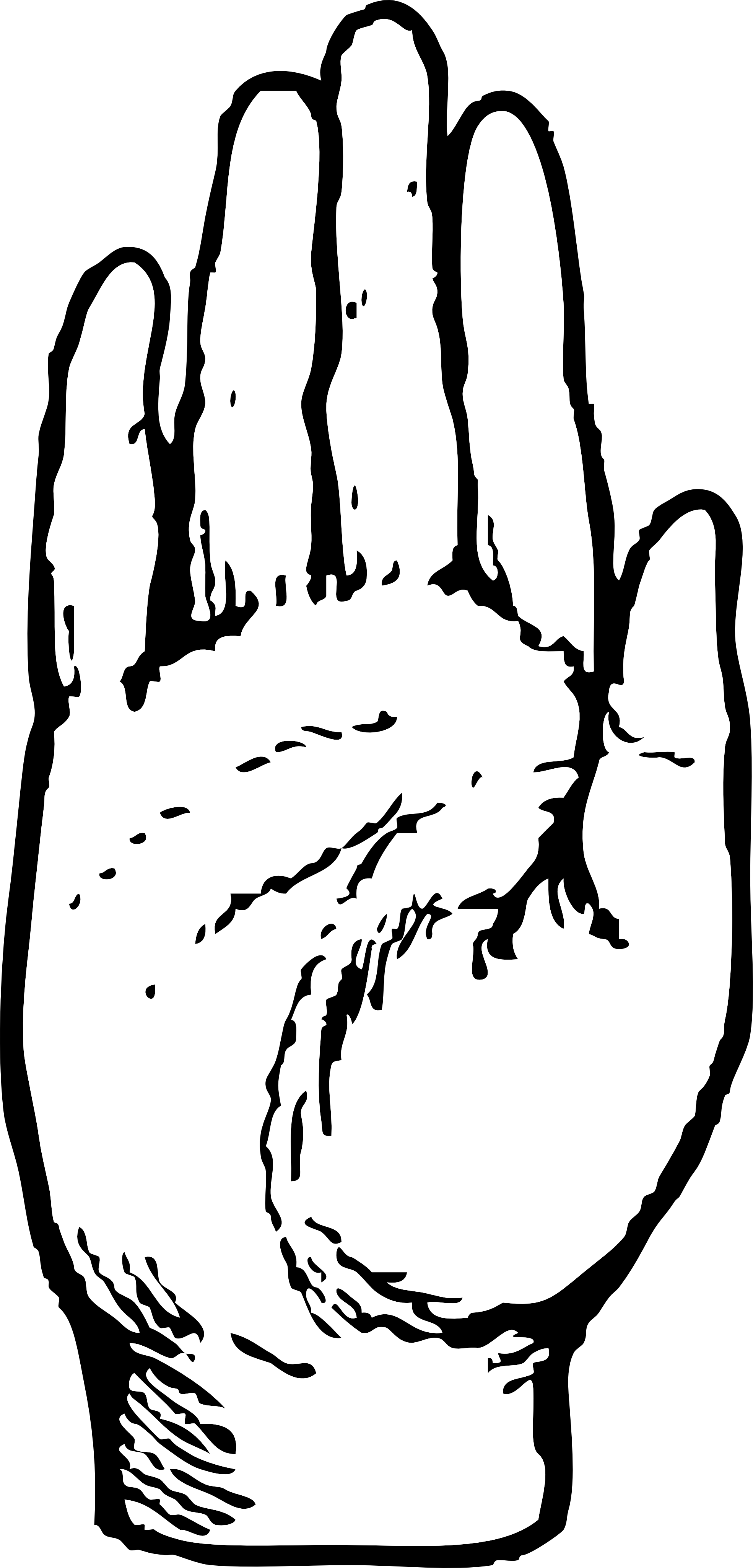 Lines clipart hand Cliparts Of Right Art Hand