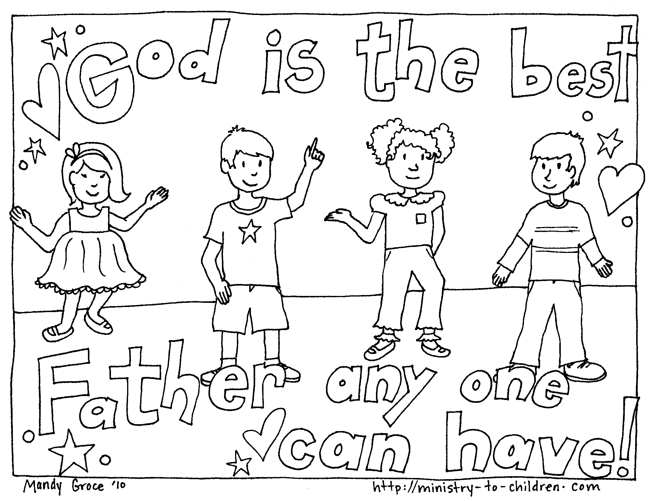 Gods clipart our father Christian Cards Free Printable Coloring
