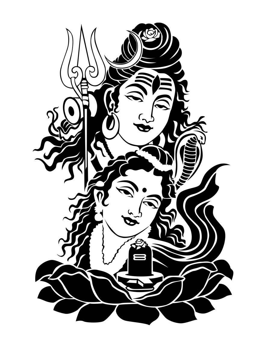 Gods clipart parvati Parvati sketches Pinterest of paintings