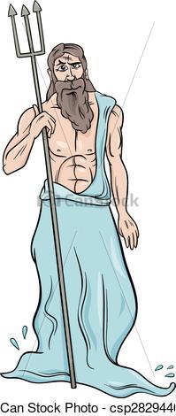 Gods clipart poseidon  illustration greek Vector poseidon