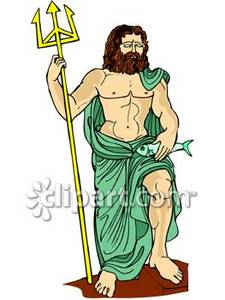 Gods clipart poseidon Free Royalty Picture of Free
