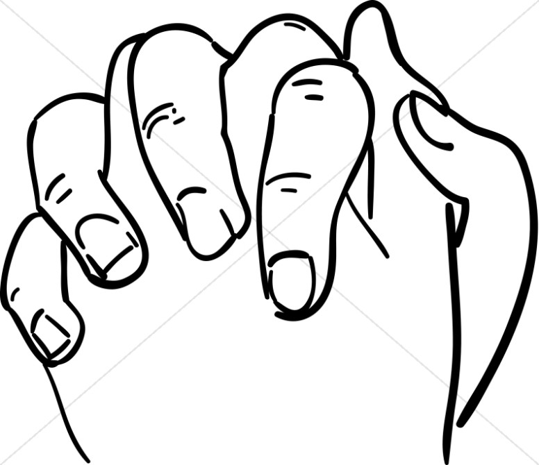 Gods clipart prayer hand Hands Outline Prayer to Clasped