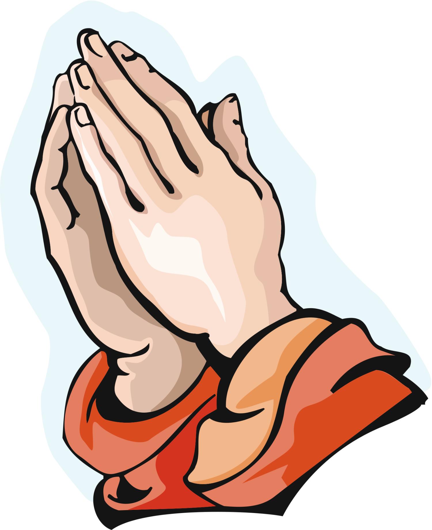 Gods clipart prayer hand Praying on Hand Free Clipart