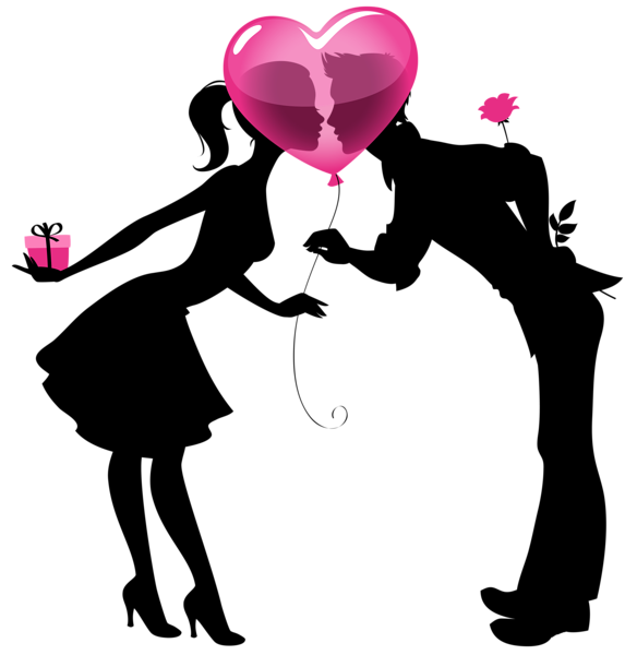 Couple clipart heart Picture Couple Heart  Silhouettes