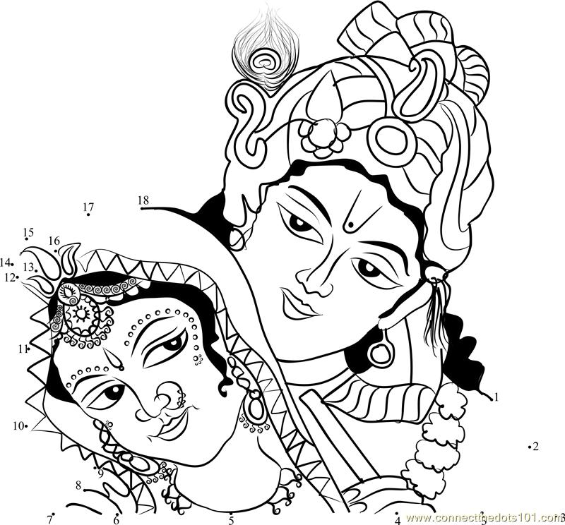 Gods clipart radha krishna Dot dot Dots Connect Radha