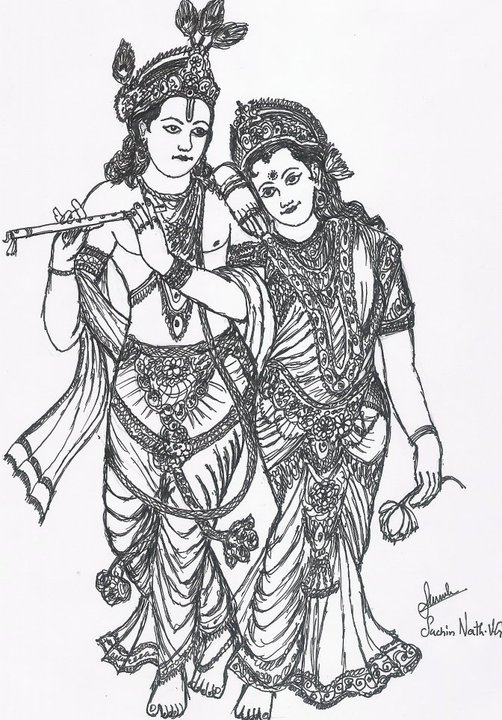 Gods clipart radha krishna Krishna Lord For Drawings Krishna
