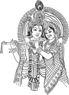Gods clipart radha krishna Painting krishna ArtGaneshKrishna Hindu divine