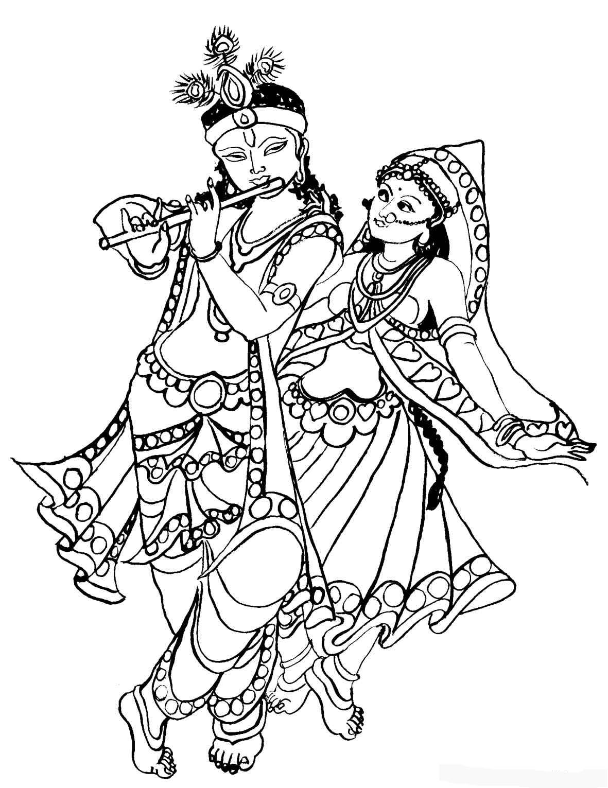 Gods clipart radha krishna Gods Free Krishna Colouring Download