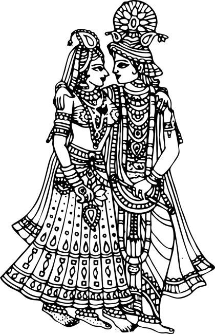 Gods clipart radha krishna Art  Free Krishna Image