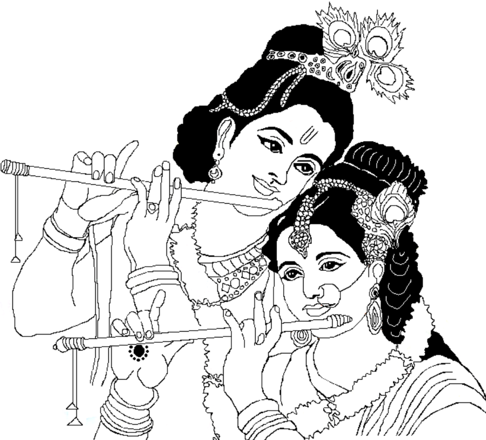 Gods clipart radha krishna Drawings And Krishna Radha