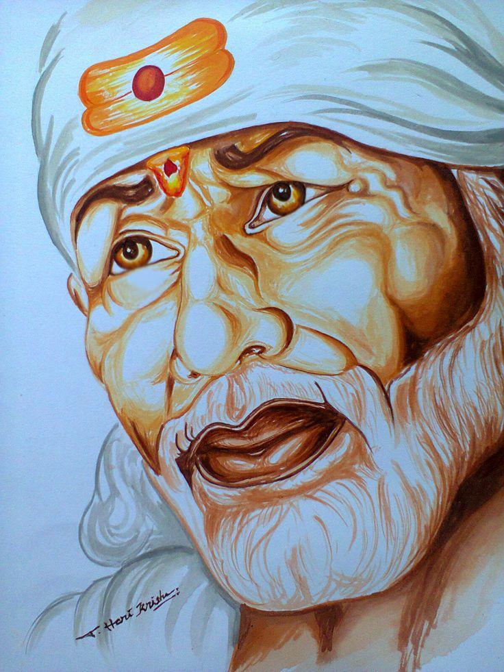Gods clipart saibaba Baba Lord (acrylic Painting on