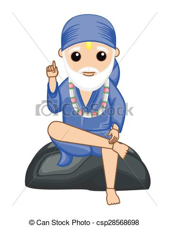 Gods clipart saibaba Sai Indian Vector One Only