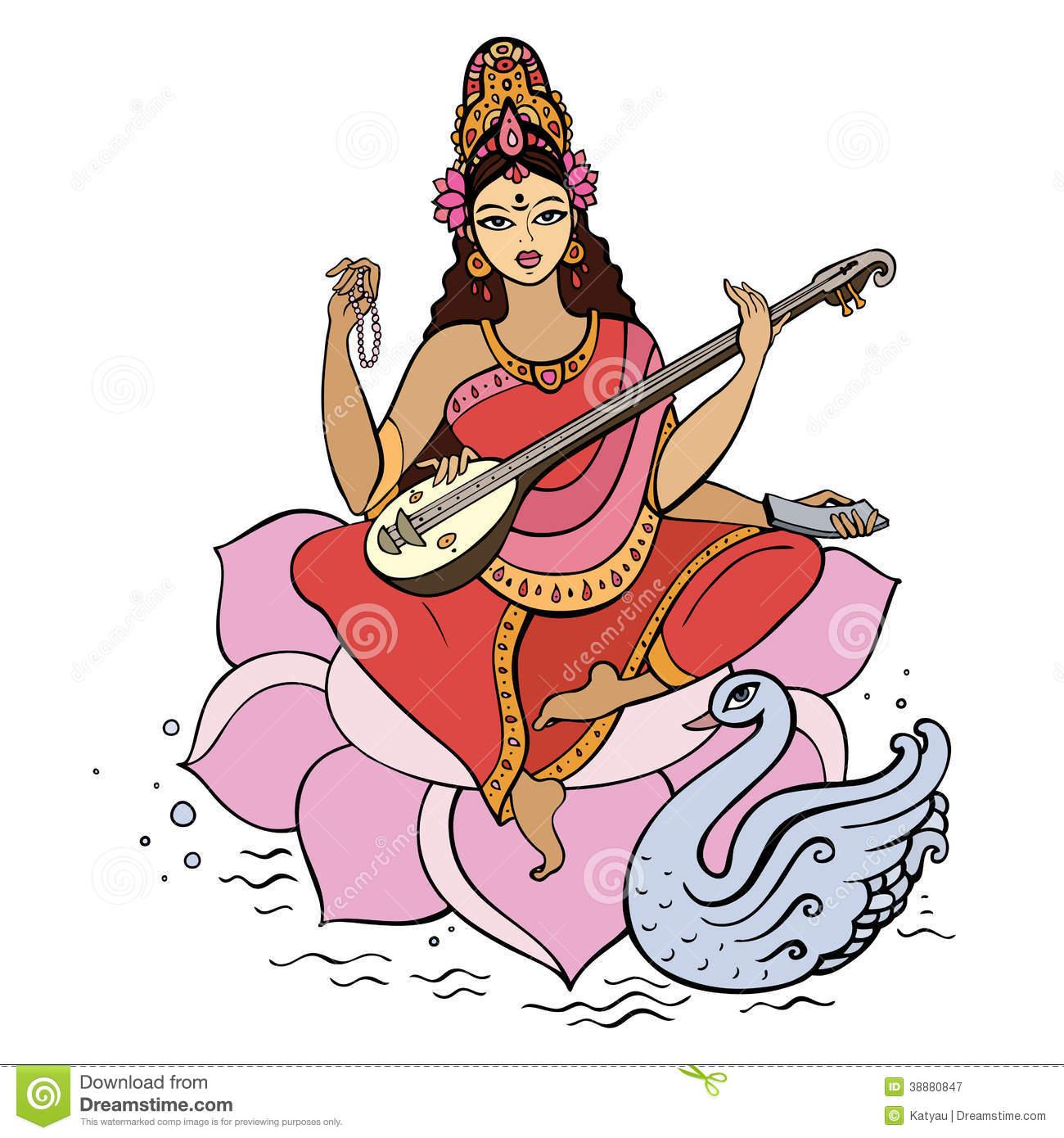 Gods clipart sarswati 386 Saraswati Saraswati Free Download