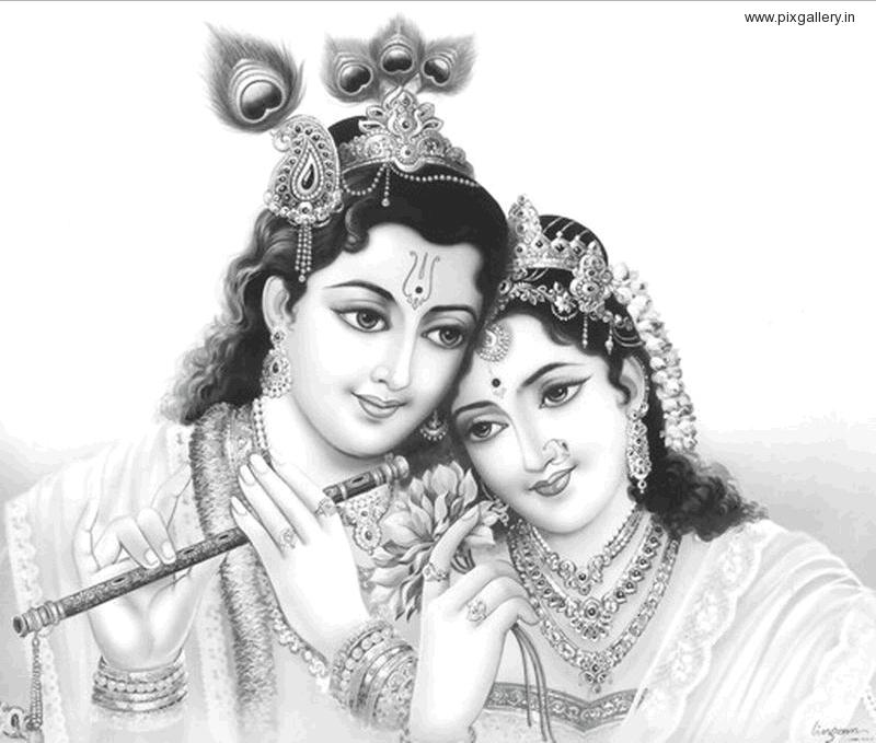 Gods clipart shri krishna Krishna Wallpaper Radhey Shree Sketch